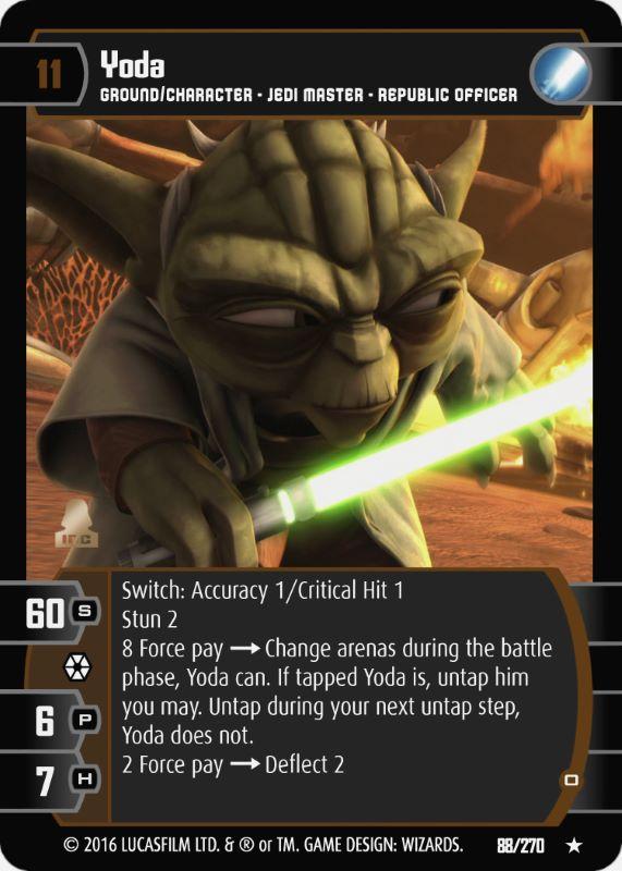D Star Wars TCG JG Yoda