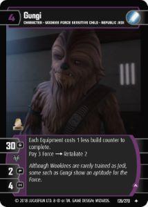 Gungi A Card Star Wars Trading Card Game Aufgrund seiner besonderen leistungen wurde er gemeinsam mit fünf weiteren schülern auserwählt, um unter der leitung von padawan ahsoka tano an der versammlung. gungi a card star wars trading card