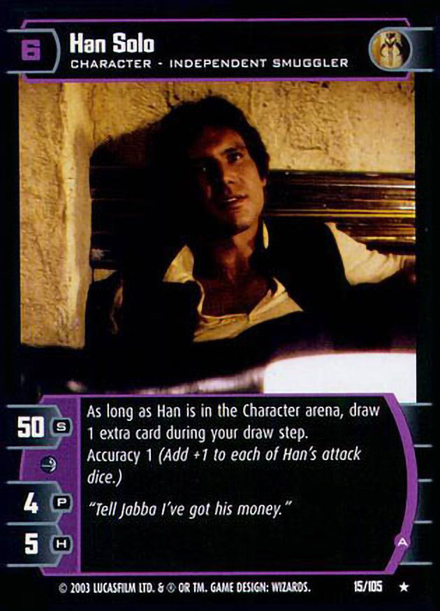 B Star Wars TCG BOY Han Solo