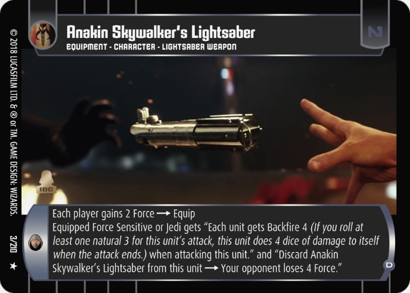 Anakin Skywalker's Lightsaber (D)