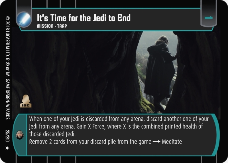 It's Time for the Jedi to End